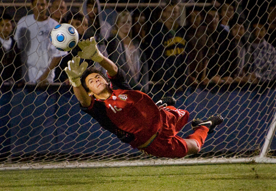 Fingertip Save by Tony Mastres, U California Santa Barbara