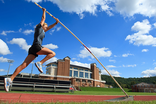 """Pole Vault Practice"" by Joel Coleman, Liberty University."