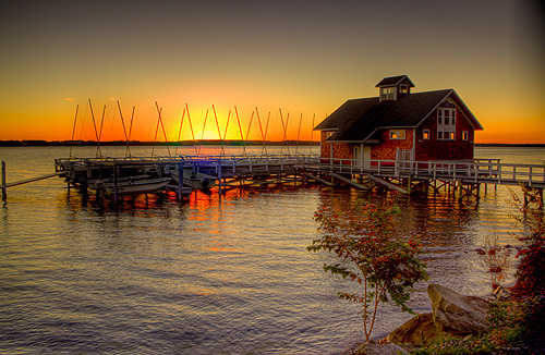 Boathouse Sunrise by Kevin Colton, Hobart and William Smith Colleges