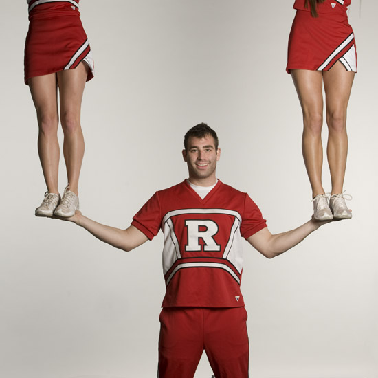 """Co-ed Cheerleaders"" by Nick Romanenko, Rutgers, The State University of New Jersey."